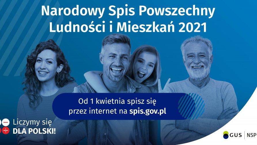 Grafika przedstawia uśmiechnięte cztery osoby w różnym wieku i płci na niebieskim tle. Grafika opatrzona jest tekstem ze szczegółami informacji