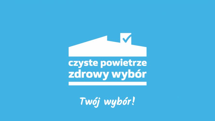 Grafika przedstawia biały napis z nazwą programu, wkomponowany w rysunkowy domek na jasnoniebieskim tle