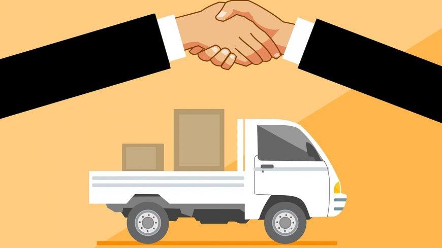 Obraz przedstawia samochód dostawczy